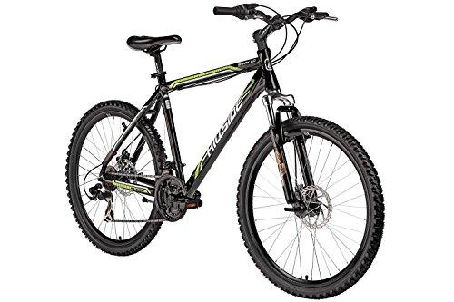 Mountainbike 26 Zoll Shark 2.0 von Hillside in schwarz MTB Fahrrad Scheibenbremsen 21 Gang Schaltung 20 Zoll RH