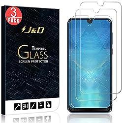 J&D Compatible pour HTC Desire 19+ Protection écran, 3 Pièces [Verre Trempé] [Non Couverture Complète] Protecteur d'Écran Clair HD pour HTC Desire 19+
