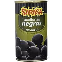 Sarasa Aceitunas Negras Cacereñas sin Hueso - Paquete de 12 x 350 gr - Total: 4200 gr