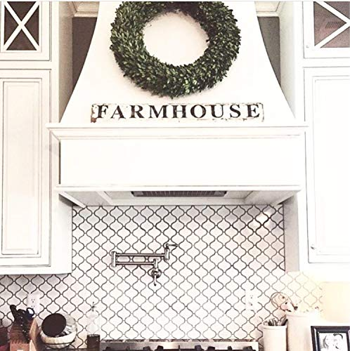 istiWood Farmhouse Schild Salvage Scheunenholz weiß Splitterfarbe Bauernhaus Dekor Wand Recycelt rustikal architektonisch bemalt Schild Fixer Oberdekoration