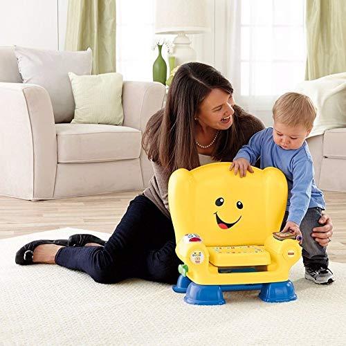 (Fisher-Price Laugh & Learn Kinderstuhl, Smart-Stages-Technologie für den Lernspaß, Gelb)