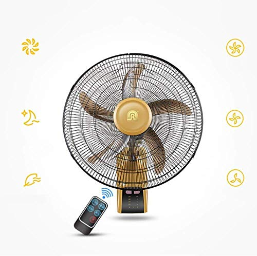 Wuyeti Ventilador de Verano Montado en la Pared 18 Pulgadas Swing Gold Yellow 60W Seguro y confiable...