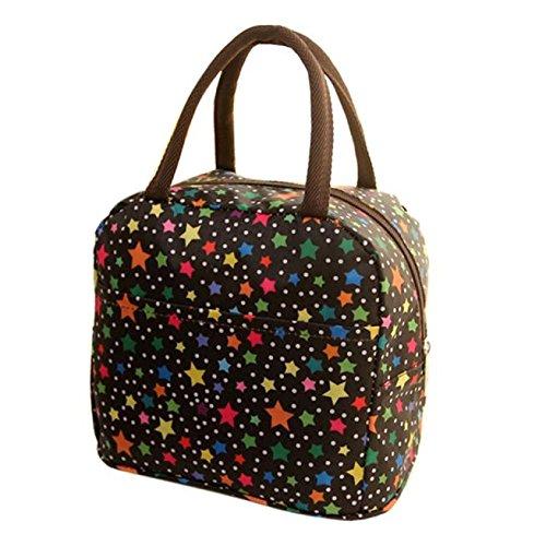 NEEKY Sacs-Repas Isolation Thermique Fermeture éclair Sacs de Pique-Nique Tote Picnic Sac à Main Lunch Bag Isotherme Femmes (32 * 22 * 10cm)
