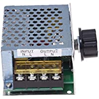 Yililay AC 220V 4000W SCR del regulador de Velocidad eléctrico dimmer regulador de tensión Ajustable con módulo de Alta Potencia para el Cepillo de Shell Hierro Electromotor, DIY y Herramientas