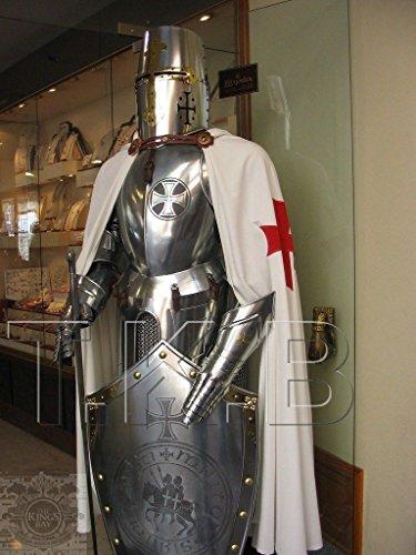 (Rare Mittelalterliche Ritteranzug von Tempelarmierung mit Schwertkampf, Ganzkörper-Rüstungsständer)