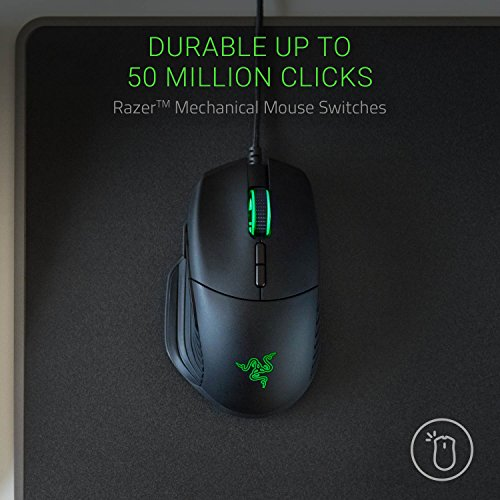 Razer Basilisk: True 16,000 5g Optical Sensor - Removable Dpi Clutch & Customizable Scroll Wheel Resistance - Ergonomic Form Factor - Esports Gaming Mouse