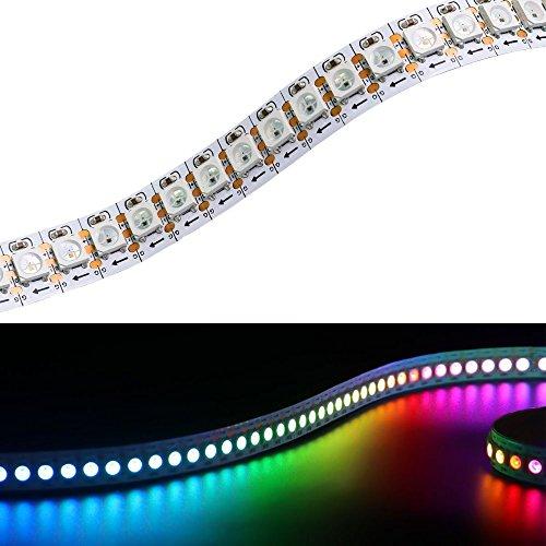 Preisvergleich Produktbild Matrix WS2812B LED Streifen 3.2fT 144 LEDs / m 5050 RGB SMD 5V Pixel Vollfarbe nicht wasserdicht Seil Licht (FPC,  Weiße FPC IP20)