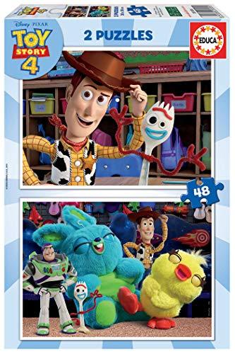 Educa Borrás - Toy Story 4 Puzzle, 2 x 48 Piezas (18106)