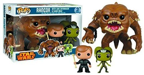 (Pop Star Wars Rancor with Luke and Slave Oola Vinyl Figure 3-Pack)