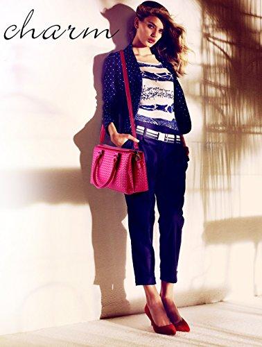 NICOLE&DORIS Grandi coreano signore borsa a spalla sacchetto tessuto nuovo stile fashion grande borsa Tutto-fiammifero delle donne(Silver) Se leva