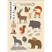 Poster 30 x 40 cm: Tiere des Waldes von Sandy Lohß - hochwertiger Kunstdruck, Kunstposter