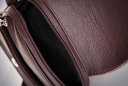 Solier Echte Leder Herren Schulter Tablet iPad Tasche Premium SL32 Braun