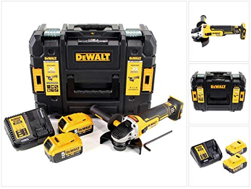 DeWalt DCG405P2-QW Meuleuse XR 18V 5Ah Li-Ion Brushless - 125mm - 2 batteries - coffret TSTAK