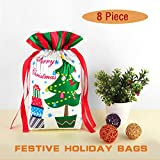 Christmas Gift Bags Drawstring Ribbon Bag 8 Stück 10,6 'x 14,6' Weihnachtsgeschenkbeutel für Urlaub / Weihnachten durch NIAFEYA