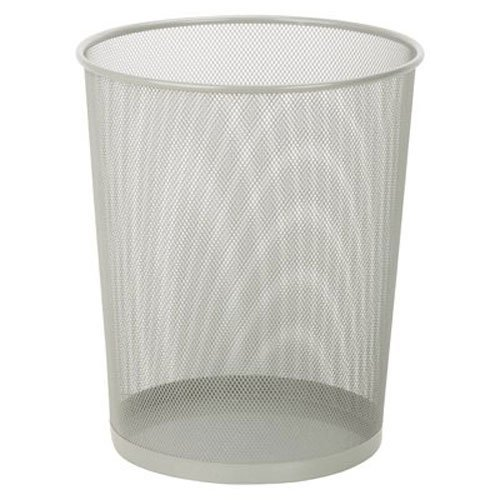 honey-can-do-trs-02101-steel-mesh-powder-coated-waste-basket-silver-18-liter-47-gallon-capacity-1175