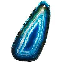 TUMBEELLUWA Achatscheiben geschliffen Achat Geode poliert, Oben gebohrt, 12 Stück preisvergleich bei billige-tabletten.eu