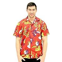 Costume Agent Scarface Tony Montana Hawaiian Adult Costume Button Up Shirt (Adult Small/Medium)
