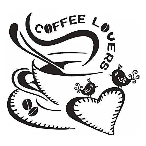 Eco-friendly Kaffee (Juabc Wandtattoo Home Decor Kunst Aufkleber Schlafzimmer Wohnzimmer Selbstklebende Tv Hintergrund Diy Eco Friendly Kaffee Liebhaber Leben Wasserdichte Wandaufkleber)
