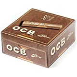 SEGGO OCB Brown King Size Rolling Paper Pack Of 50 Full Box In The Box (1600 Leaves) Assorted Hookah Flavor