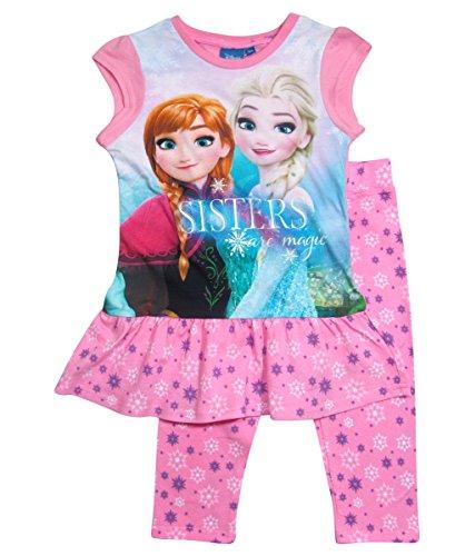 igin Set Kollektion 2017 Tunika und Leggings 98 104 110 116 122 128 Mädchen Bekleidungsset Shirt Neu Anna und Elsa Disney Rosa (122 - 128, Rosa) (Disney Frozen Kollektion)
