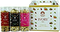 Ivory Gift pack of Flavor Cashew Nuts 3 in 1 Masala, Plain and Salted (150gm) (Pack of 3)
