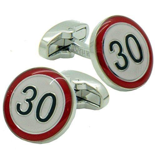 30 speed limit PISTE Panneau Boutons de manchette fabrication britannique Cuffs & Co