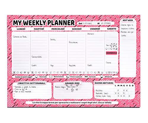 Febio Agenda Settimanale Da Tavolo A4 - To Do List Appuntamenti Ed Obiettivi