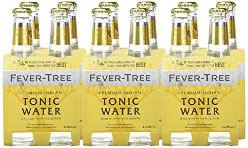 Fever-Tree Premium Indian Agua Tónica - Paquete de 4 x 200 ml (Pack of 6, Total 24)