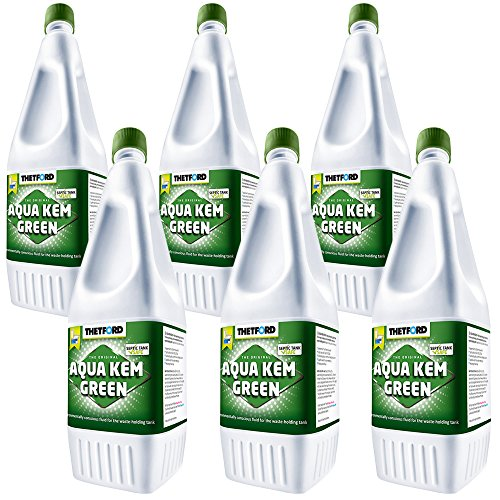 6x Sanitärflüssigkeit 1,5 L Aqua Kem Green Thetford