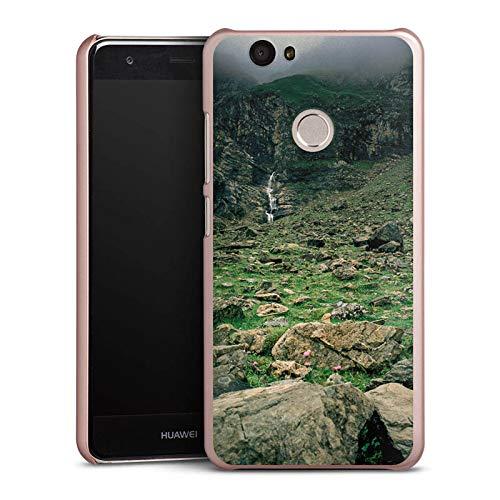 DeinDesign Hülle kompatibel mit Huawei Nova Handyhülle Case Wasserfall Gebirge Felsen -