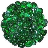1kg de galets vert en verre rond décoratif 15–20mm