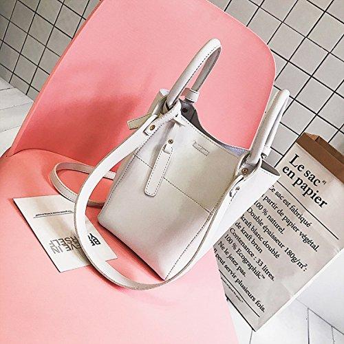 Weibliche spleißung normallack handtasche Eimer tasche Schulter messenger bag Weiß