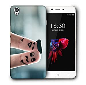 Snoogg Two Fingers Designer Protective Back Case Cover For ONEPLUS X