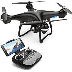 Holy Stone HS100 GPS FPV RC Drone con cámara de video en vivo y GPS Return Home Quadcopter con cámara HD WIFI de gran angular ajustable de 720P- Altitude Hold, batería inteligente de largo rango de control