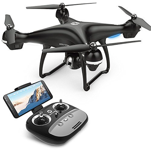 Holy Stone Drone HS100 GPS FPV RC con videocamera Live Video e GPS Return Quadcopter Home con Telecamera WiFi HD 1080P grandangolare Regolabile Seguimi, Altitude Hold