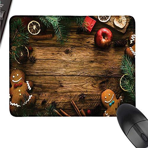 WSF2019 Weihnachtsmauspad mit lustiger Sonnenbrille, Weihnachtsmann Figuren und Glocke W8 xL9.5 Color03
