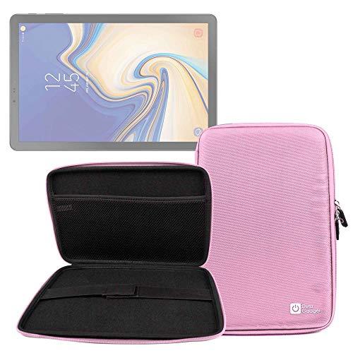 DURAGADGET Funda Rígida Rosa para Tablet Samsung Galaxy Tab S4 10.5, Samsung Galaxy Tab A 10.5 - con Bolsillo De Red En Su Interior