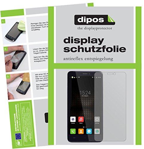 dipos I 2X Schutzfolie matt passend für Cubot Max Folie Bildschirmschutzfolie