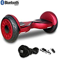 """Cool&Fun Hoverboard Patinete Eléctrico Scooter Monopatín Eléctrico Auto-equilibrio Patín de 10"""" From SHOP GYROGEEK 350X2W JUNMA (Red)"""