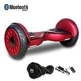HoverBoard/Skateboard/Gyropode Éléctrique Auto-équilibrage Bluetooth Scooter Trottinette Électrique 10 Pouces,Pneu Gonflable Cool&Fun JUNMA (Red)