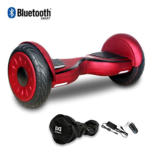 Cool&Fun Hoverboard Patinete Eléctrico Scooter Monopatín Eléctrico Auto-Equilibrio Patín DE 10' from Shop GYROGEEK 350X2W JUNMA (Red)