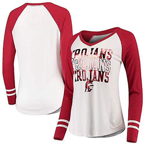 289c Bekleidung Damen T-Shirt mit V-Ausschnitt, Weiß, Damen, weiß, S=0/2 -