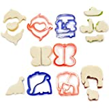 Andrew James - 5-Teiliges Sandwich-Ausstecher Set Für Kinder - Auch Ideal Als Plätzchenausstecher Und Marzipanausstecher - Beinhaltet Dinosaurier, Fahrzeuge, Elefanten, Delfine Und Schmetterlinge