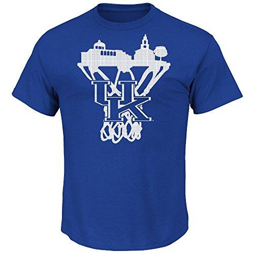 "Kentucky Wildcats Majestic NCAA ""Pass Through"" Short Sleeve Men's T-Shirt Camicia"