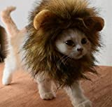 Skylink Lion Cheveux Cat Costume Lion Mane Perruque pour déguisement de chat lavable avec oreilles