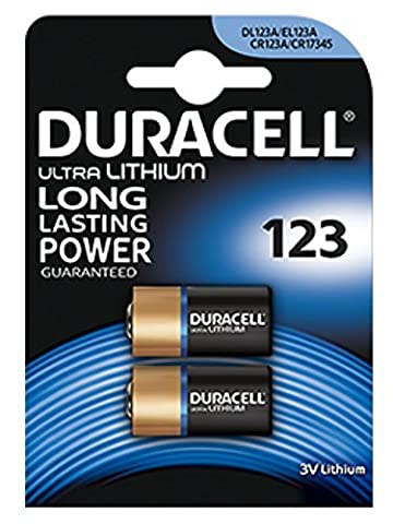 2 x Batterie Duracell Ultra photo 123 3 V Lithium – dl123 Pile pour – el123 a – CR123 A – CR17345