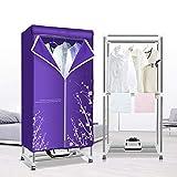 QXKMZ Elektrische tragbare Kleidung Wäschetrockner, Garderobe Wärmepumpentrockner, intelligentes Trocknungskontrollsystem, 360 ° Stereo-Zyklusheizung, Einstellbarer Timer (Anion)