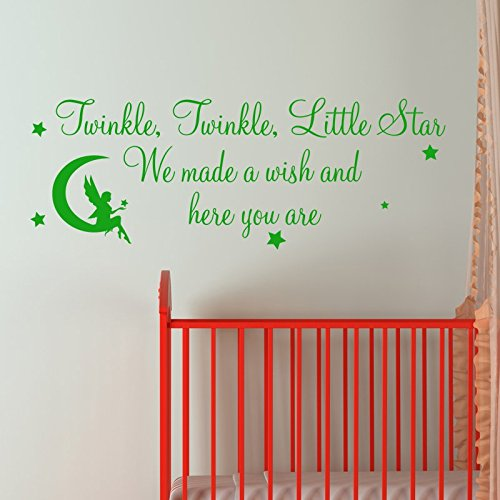 Twinkle Twinkle Little Star We Made A Wish And Here You Are Wall Sticker  Graphic Decal Vinyl Art Quote: Amazon.co.uk: Kitchen U0026 Home Part 51