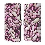 Head Case Designs Offizielle PLdesign Weisse Und Purpurrote Bohnen Nahrung Brieftasche Handyhülle aus Leder für iPhone 6 Plus/iPhone 6s Plus