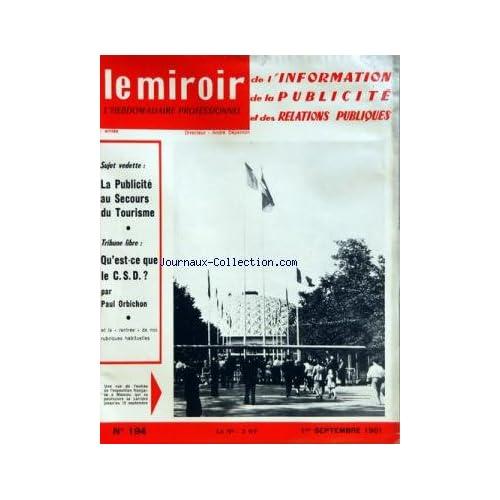 MIROIR DE L'INFORMATION DE LA PUBLICITE ET DES RELATIONS PUBLIQUES (LE) [No 194] du 01/09/1961